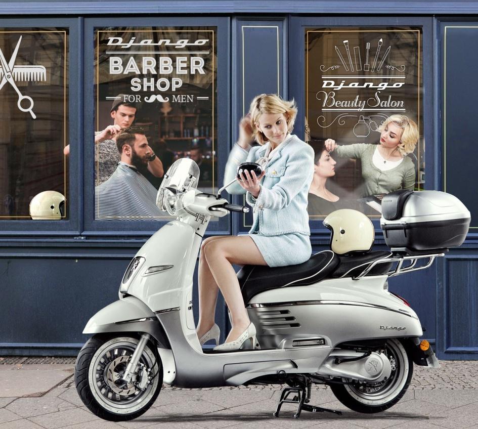 Milano design week doppelganger gangherista Peugeot Scooters Django 7