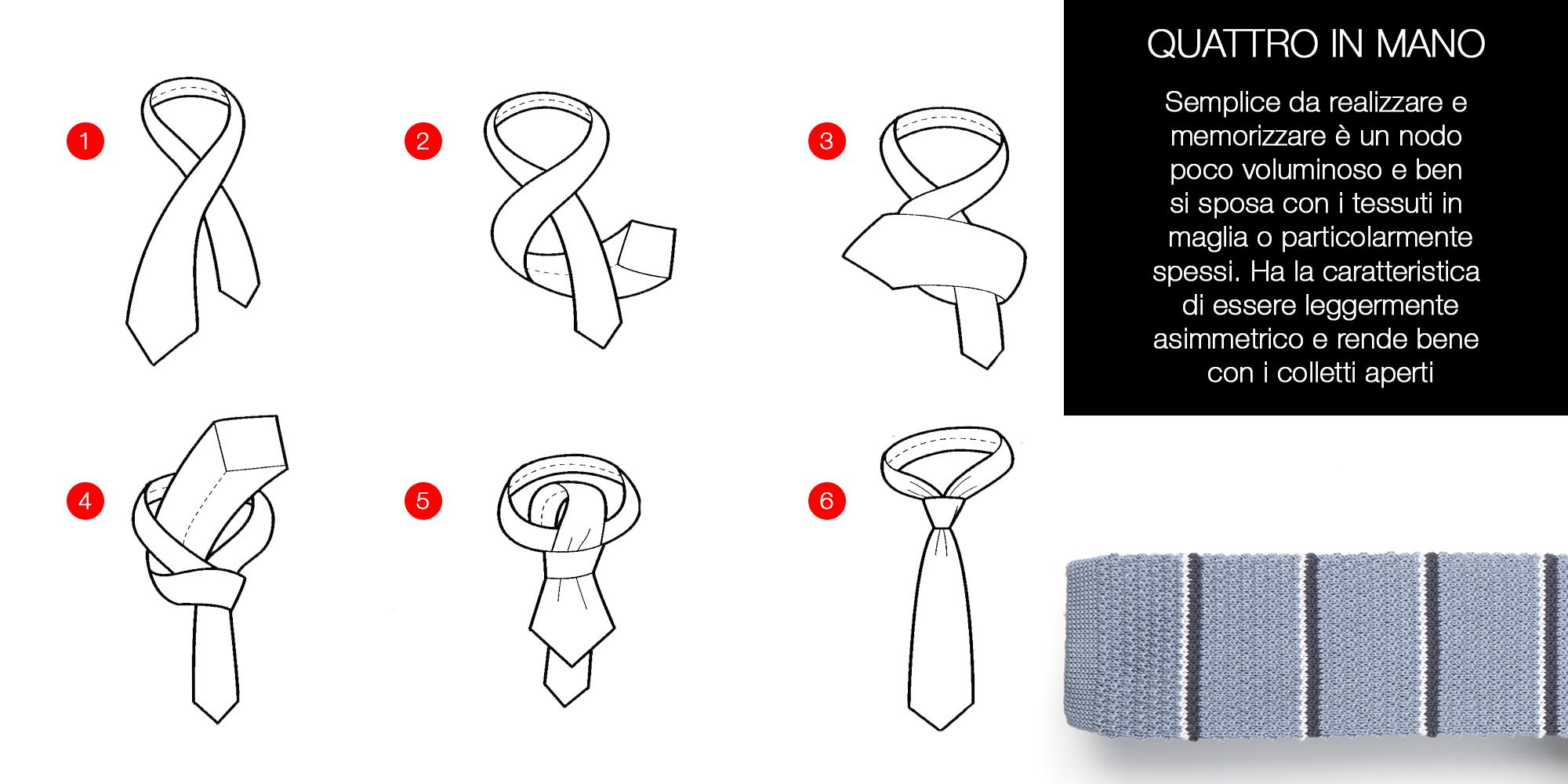 nodo cravatta quattro in mano il gangherista doppelganger